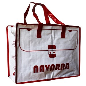 woven zipper bag/shopping bag/reusable bag NAVARRA