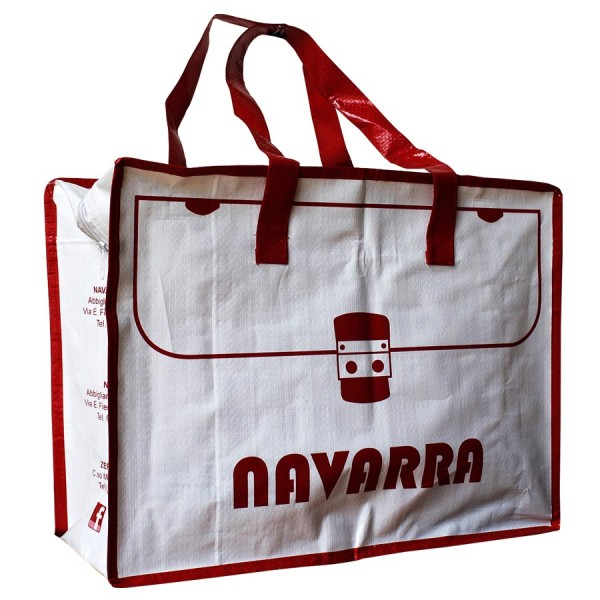 PP woven zipper bag/shopping bag/reusable bag NAVARRA